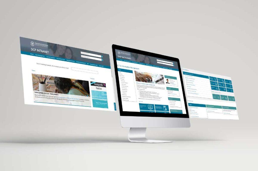 DCP SA intranet screenshots