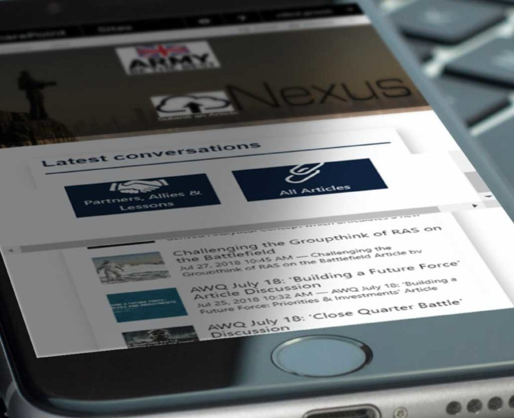 UK Ministry of Defence mobile-first intranet solution