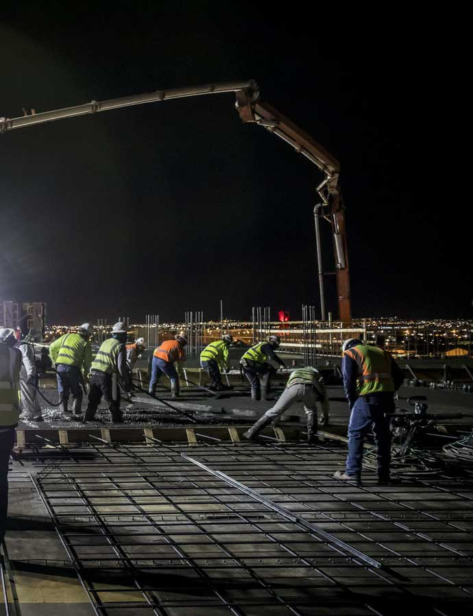 Construction workers at Sundt Construction