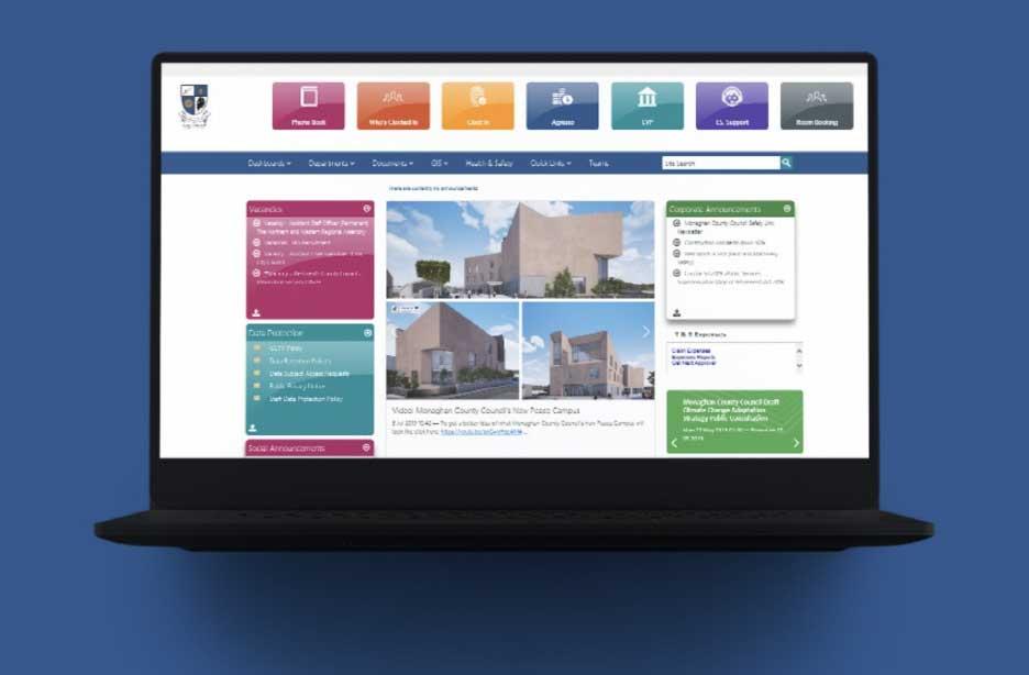 Monaghan County Council intranet screenshot