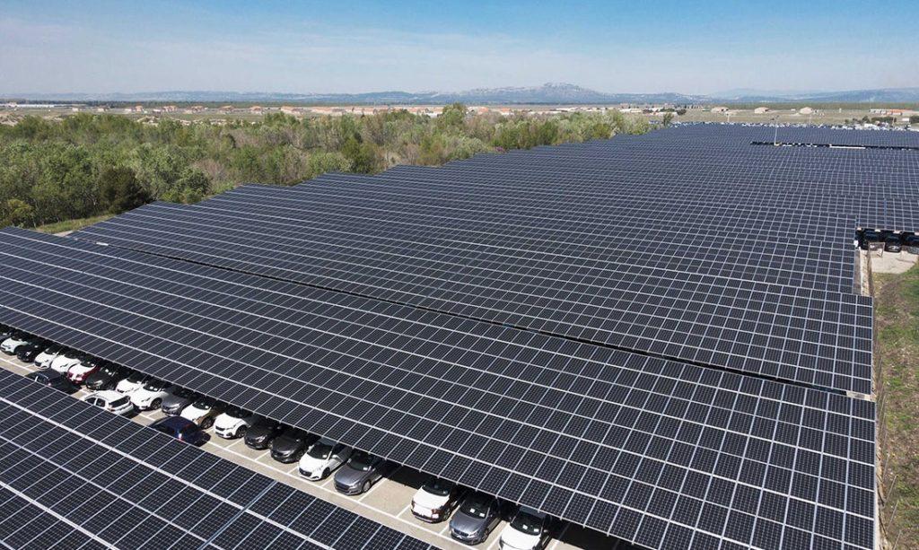 Solar Power Generating Car Park