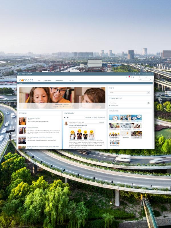 Concordia health insurance intranet start screen
