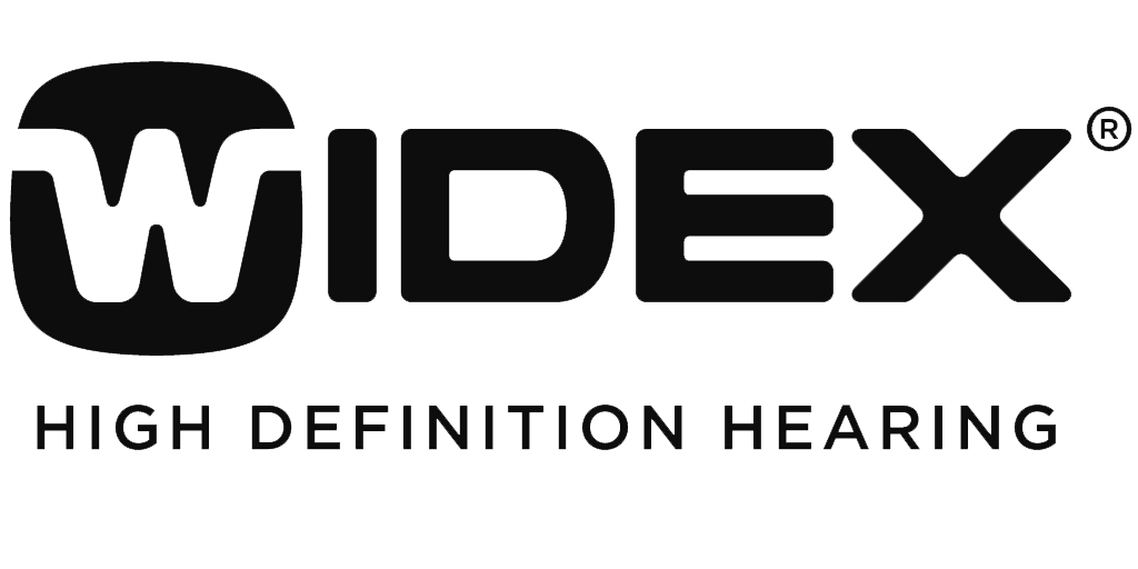 Widex logo in black