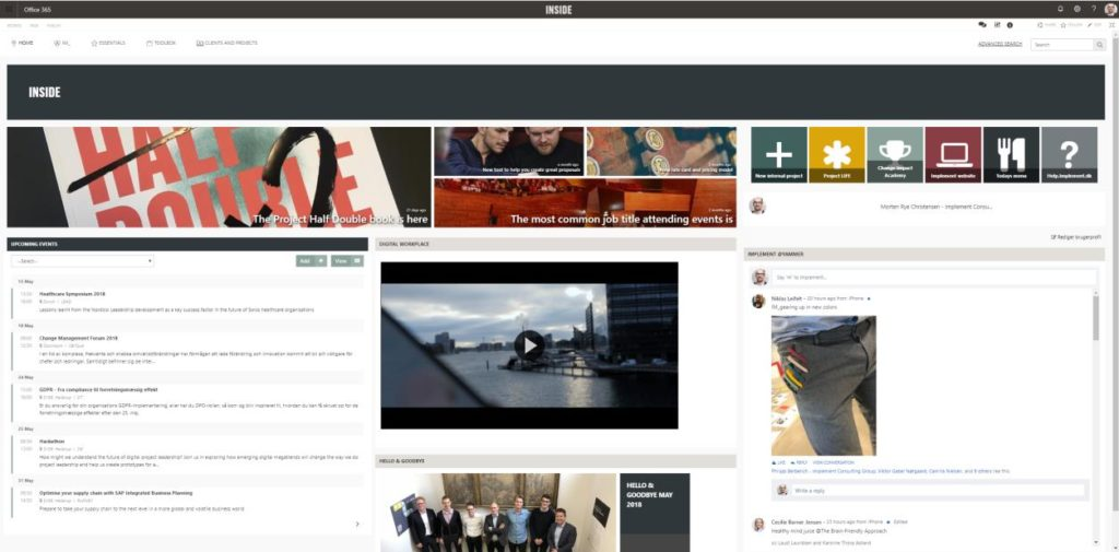 Implement Consulting intranet portal
