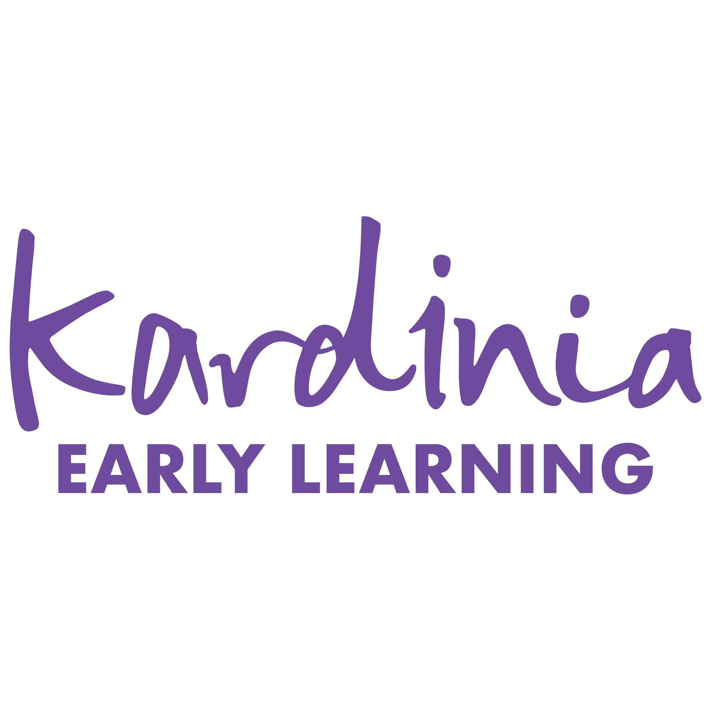 Kardinia Early Learning childcare organization logo in purple