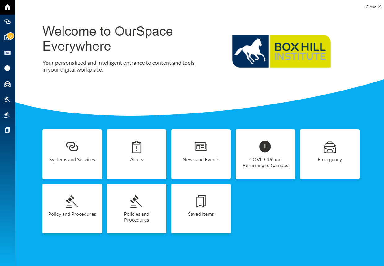 Box Hill TAFE intranet screen shot of the digital classroom