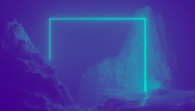 Mountains with neon LiveTiles screen